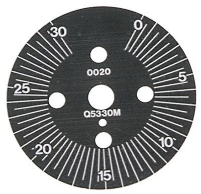 δίσκος ενδείξεων ø 60mm περιστροφή 30-330 ° χρονοδιακόπτες μόνιμη θέση αρ. διαβάθμιση 30min