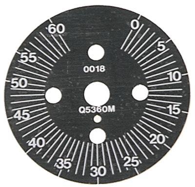 δίσκος ενδείξεων διαβάθμιση 60min  μόνιμη θέση αρ. περιστροφή 30-300 ° ø 60mm χρονοδιακόπτες