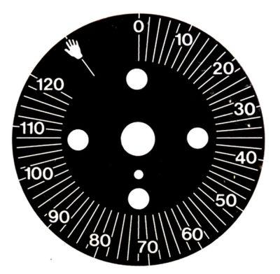 δίσκος ενδείξεων διαβάθμιση 120min  μόνιμη θέση ναι περιστροφή 0-300 ° ø 60mm