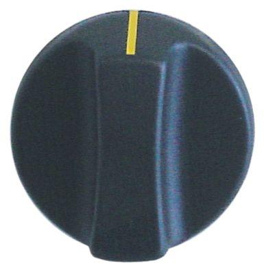κομβίο ένδειξη μηδέν διακόπτη ø 50mm ø άξονα 8x7 mm επίπεδος άξονας αριστερά μαύρο