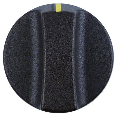 κομβίο ένδειξη μηδέν διακόπτη ø 50mm ø άξονα 6x4,6 mm επίπεδος άξονας πάνω μαύρο