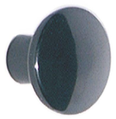 καπάκι σπείρωμα M5  ø λαβής 25mm Μ 19mm πλαστικό μαύρο