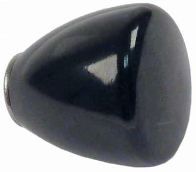 λαβή κωνική σπείρωμα M5  ø 25mm Μ 26mm πλαστικό μαύρο