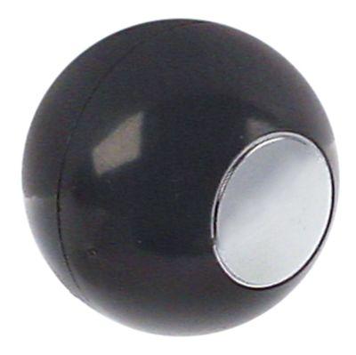 λαβή μπάλα ø 30mm εσωτερική ø 6x4,6 mm γκρι/χρωμέ
