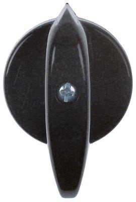 κομβίο ένδειξη μηδέν διακόπτη Μέγ. Θ  -°C  -°C ø 34/60 mm ø άξονα 5x5 mm επίπεδος άξονας  - μαύρο