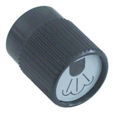 κομβίο ατμός ø 38mm μαύρο
