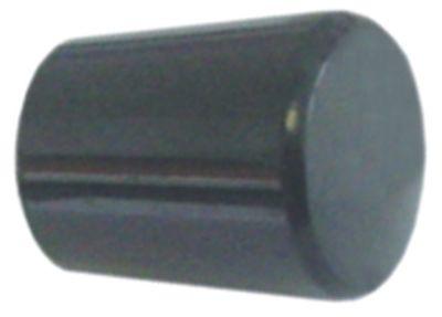 λαβή κωνική σπείρωμα M6  ø 20mm Μ 24mm πλαστικό μαύρο