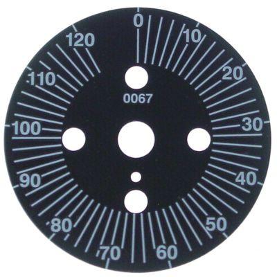 δίσκος ενδείξεων διαβάθμιση 120min  μόνιμη θέση αρ. περιστροφή 0-330 ° ø 60mm