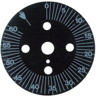 δίσκος ενδείξεων διαβάθμιση 60min  μόνιμη θέση ναι περιστροφή 0-300 ° ø 60mm χρονοδιακόπτες