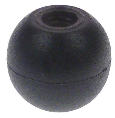 λαβή μπάλα σπείρωμα M8  ø 25mm μαύρο ματ