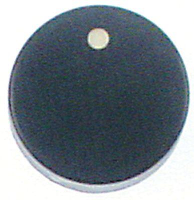 κομβίο βάνα αερίου με φλόγα ανάφλεξης SKG ø 40mm ø άξονα 6x4,6 mm επίπεδος άξονας πάνω μαύρο