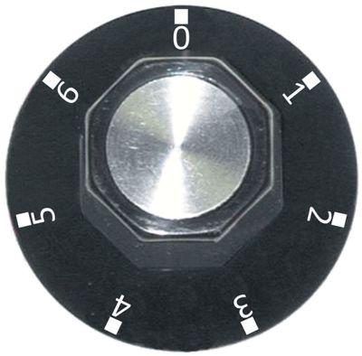 κομβίο 7 θέσεων Μέγ. Θ  -°C ø 50mm ø άξονα 6x4,6 mm επίπεδος άξονας κατώτερο μαύρο