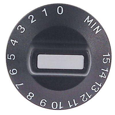 κομβίο χρόνος 15min Μέγ. Θ  -°C  -°C ø 50mm ø άξονα 6x4,6 mm επίπεδος άξονας δεξιά μαύρο