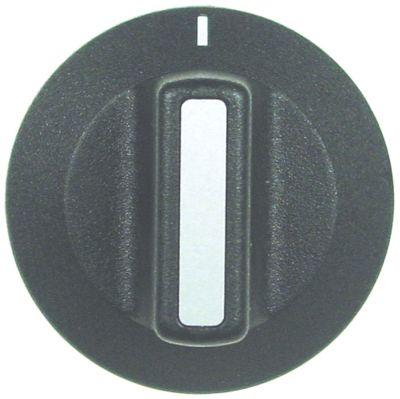 κομβίο ένδειξη μηδέν διακόπτη Μέγ. Θ  -°C ø 42mm ø άξονα 6x4,6 mm επίπεδος άξονας κατώτερο μαύρο