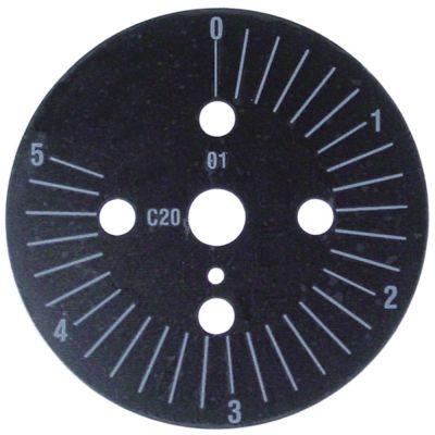 δίσκος ενδείξεων διαβάθμιση 5min  μόνιμη θέση αρ. περιστροφή 0-290 ° ø 60mm