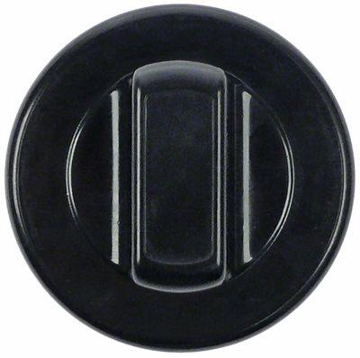 κομβίο γενικής χρήσης ø 70mm μαύρο χωρίς προσαρμογέα/δίσκο ενδείξεων