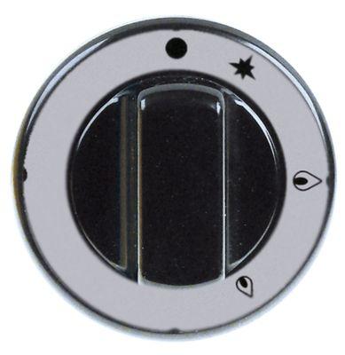 κομβίο βάνα αερίου με φλόγα ανάφλεξης PEL21/22/23 ø 70mm ø άξονα 10x8 mm