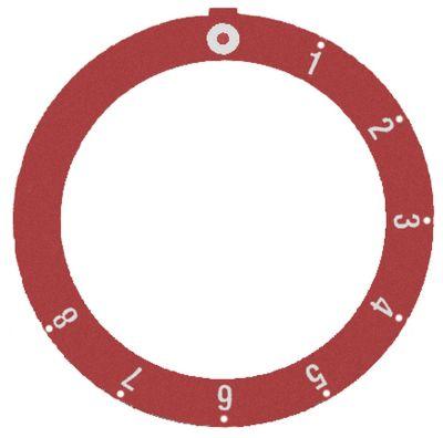 δίσκος ενδείξεων κόκκινο θερμοστάτης αερίου SABAF 1-8 Μέγ. Θ  -°C