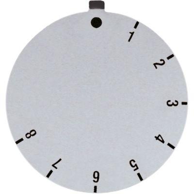 δίσκος ενδείξεων θερμοστάτης αερίου SABAF 1-8 Μέγ. Θ  -°C ΕΞ. ø 45mm ασημί