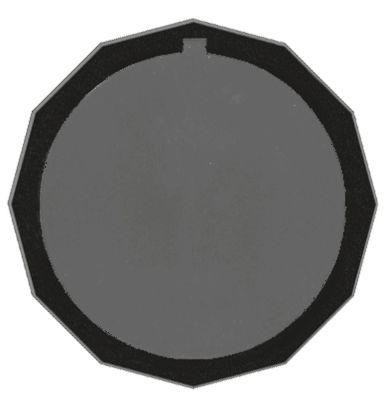 κομβίο γενικής χρήσης ø 55,2mm μαύρο χωρίς προσαρμογέα/δίσκο ενδείξεων