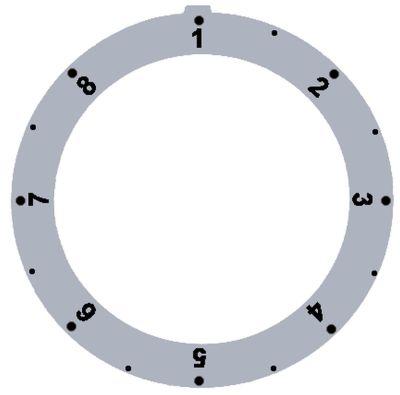 δίσκος ενδείξεων ασημί θερμοστάτης αερίου MERTIK 1-8 Μέγ. Θ  -°C