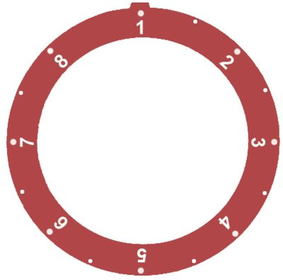 δίσκος ενδείξεων κόκκινο θερμοστάτης αερίου MERTIK 1-8 Μέγ. Θ  -°C