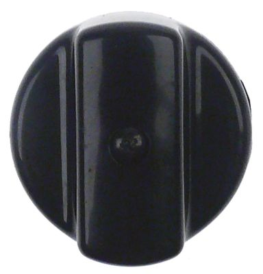 κομβίο ø 42mm μαύρο H 22mm διάμετρος άξονα 5x5 mm