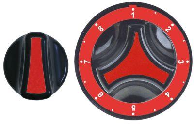 σετ κομβίων ρυθμιστής αερίου MERTIK κόκκινο