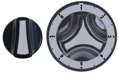 σετ κομβίων ρυθμιστής αερίου MERTIK ασημί