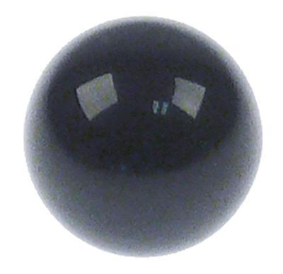λαβή μπάλα σπείρωμα M6  ø 20mm με μεταλλικό δακτύλιο μαύρο πλαστικό