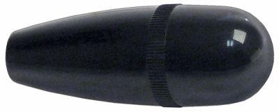 λαβή κωνική σπείρωμα M12  ø 31mm Μ 82mm πλαστικό μαύρο