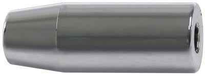 κυλινδρική λαβή σπείρωμα  - εσωτερική ø 12mm ø 30mm Μ 82mm ασημί