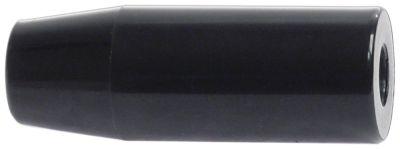 κυλινδρική λαβή σπείρωμα  - εσωτερική ø 12mm ø 30mm Μ 82mm μαύρο
