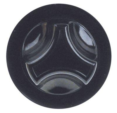 κομβίο ρυθμιστής αερίου MERTIK ø 62mm επίπεδος άξονας πάνω μαύρο ειδικός σύνδεσμος