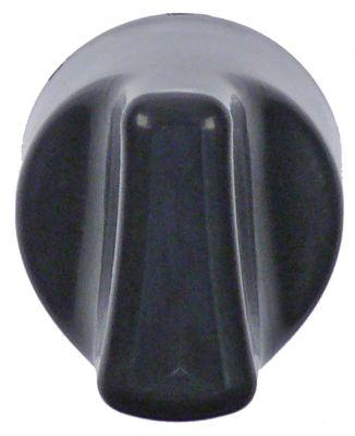 κομβίο ρυθμιστής αερίου MERTIK ø 32mm μαύρο για πιεζοηλεκτρικό σύστημα ανάφλεξης