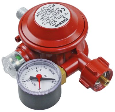 ρυθμιστής πίεσης αερίου EN61-DS  σύνδεσμος μικρές φιάλες αερίου - 1/4