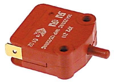 μικροδιακόπτης με έμβολο λειτουργία με πείρο 250V 16A 1NO/1NC  σύνδεσμος αρσενικό εξάρτημα 6,3mm
