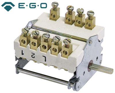 διακόπτης λειτουργίας 5 θέσεις λειτουργίας 2NO/2CO  ακολουθία 0-1-2-3-4  32A ø άξονα 6x4,6 mm