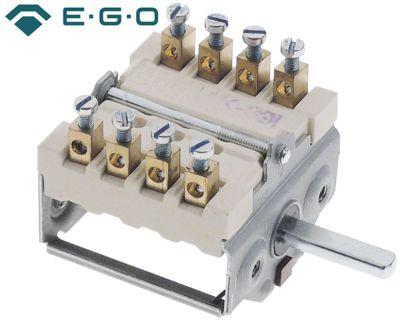 διακόπτης λειτουργίας 2 θέσεις λειτουργίας 4NO  ακολουθία 0-1  16A ø άξονα 6x4,6 mm Μ άξονα 23mm
