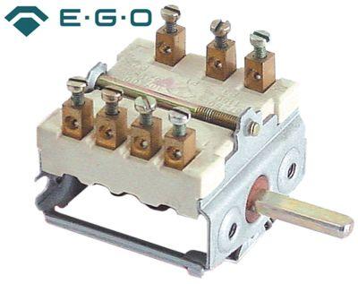 διακόπτης λειτουργίας 5 θέσεις λειτουργίας 1NO/2CO  ακολουθία 0-1-2-3-4  16A ø άξονα 6x4,6 mm