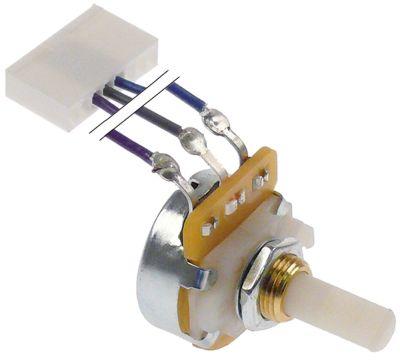 ποτενσιόμετρο με τάπα και καλώδιο ταχύτητα 10ΚΩ περιστροφή 300° ø άξονα 6.2mm Μ άξονα 15mm