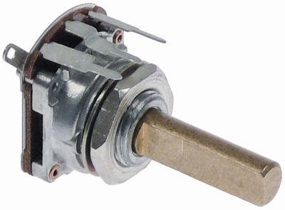 ποτενσιόμετρο με διακόπτη 4,7ΚΩ περιστροφή 270° ø άξονα 6mm Μ άξονα 18,5mm
