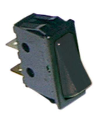 στιγμιαίος διακόπτης ορθογώνιο μαύρο 1NO  250V 16A σύνδεσμος αρσενικό εξάρτημα 6,3mm