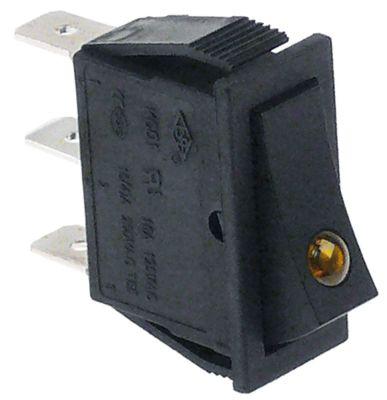 διακόπτης διαστ. τοποθέτ. ορθογώνιο πορτοκαλί 1NO/ενδεικτική λυχνία 250V 16A  -  -