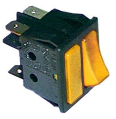 διακόπτης ορθογώνιο πορτοκαλί/πορτοκαλί 1NO/ενδεικτική λυχνία 250V 16A