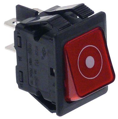 στιγμιαίος διακόπτης διαστ. τοποθέτ. ορθογώνιο κόκκινο 2NO  250V 16A  - START