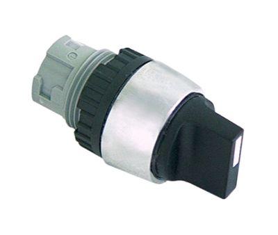 περιστροφικός επιλογέας διαστ. τοποθέτ. ø22mm  μαύρο μανδάλωση ακολουθία 1-0-2