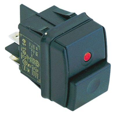 πληκτροδιακόπτης ορθογώνιο κόκκινο 2NO  250V 12A σύνδεσμος αρσενικό εξάρτημα 6,3mm