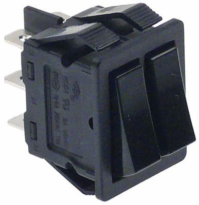 διακόπτης διαστ. τοποθέτ. 30x22mm ορθογώνιο 1CO/1CO  μαύρο 250V 16A  - 0-I