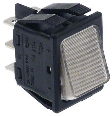 διακόπτης διαστ. τοποθέτ. 30x22mm ορθογώνιο 2CO  λευκό 250V 16A  -  -  -